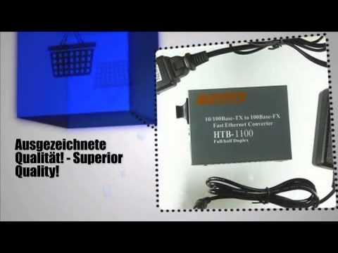 netLINK Fiber zu Twisted Pair Konverter [9790] PA-HTB-1100 - m-ware.de