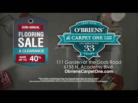 O Brien S Carpet One Semi Annual Flooring And Clearance