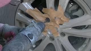как высверлить гайку колеса