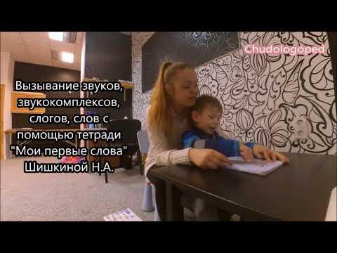 24. Фрагмент занятия с неговорящим ребенком 3х лет