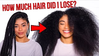 TAKING OUT MY BOX BRAIDS + Favorite Way to Deep Condition! | jasmeannnn