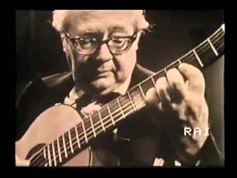 Andrés Segovia: Prelude N°3, Etude N°1 - Heitor Villa-Lobos