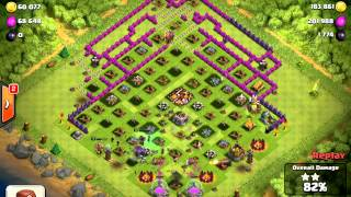 clash of clans ¨not maxed open base never works¨...