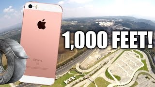 Can Duct Tape Protect iPhone SE from 1,000 Feet DROP TEST?!! thumbnail