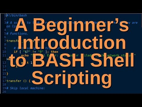 A Beginner's Introduction To BASH Shell Scripting