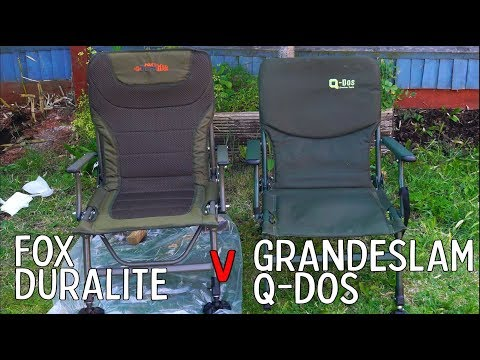 Fox Duralite V Grandeslam Q-Dos Fishing Chairs.
