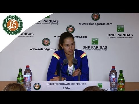 Press conference Ana Ivanovic 2014 French Open R2