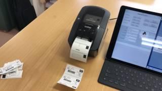 PrintAssistを使ってiPadのFileMaker GoからQL-720NWで検体ラベルを3枚...