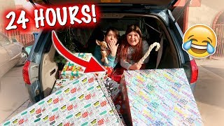 24 HOURS OVERNIGHT IN THE CAR FOR CHRISTMAS CHALLENGE!