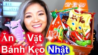 Thử Ăn Vặt Bánh Kẹo Nhật TokyoTreat   Trying Japanese Snacks and Candy ♡ BeeSweetiee
