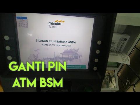 Cara Ganti PIN ATM BSM Mandiri Syariah Kartu Debit.
