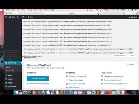 WordPress compilation failed