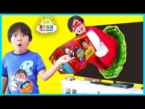 Ryans World Giant Surprise Toys Delivery from Superhero Ryan Red Titian!!!