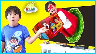 Ryan's World Giant Surprise Toys Delivery from Superhero Ryan Red Titian!!!
