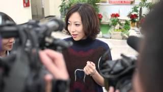 一青窈從松山機場抵台台灣舉行演唱會.