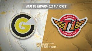 Mundial 2019: Fase de Grupos - Dia 4 | Clutch Gaming x SK Telecom T1 (Jogo 2)