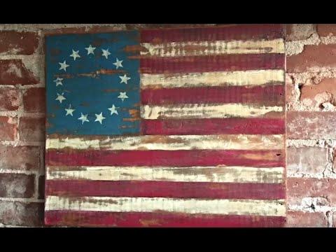 Reclaimed Wood American Flag Youtube