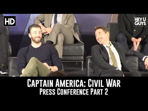 Captain America: Civil War Press Conference - Part 2