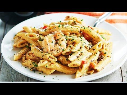 Easy Shrimp Alfredo Recipe - Show Me The Yummy - Episode 34