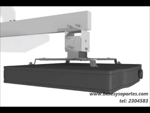Base soporte de pared para video proyector o videobeam de - Soporte pared proyector ...