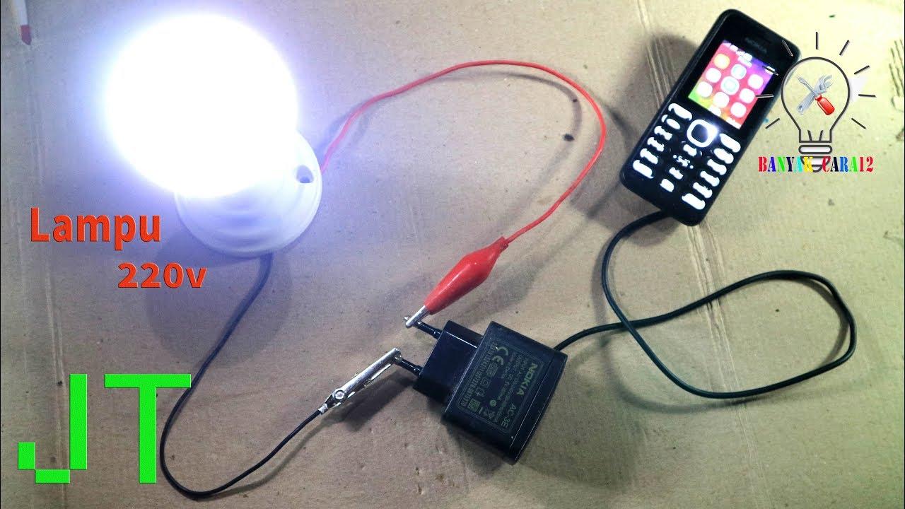 Cara Menyalakan Lampu 220v Dengan Baterai 3v Jt Sederhana Youtube