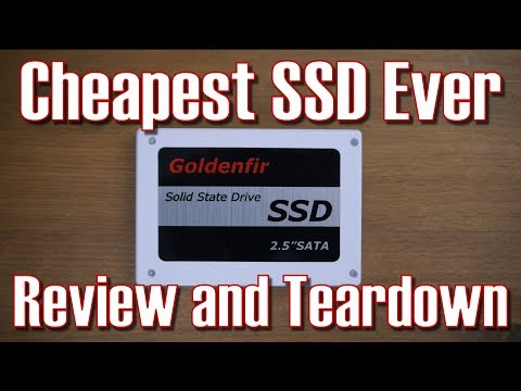 The Cheapest SSD on the Market! Goldenfir SSD Review and Teardown