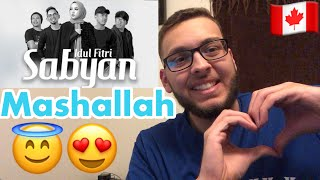 Canadian REACTS To - IDUL FITRI - SABYAN ( OFFICIAL M/V )