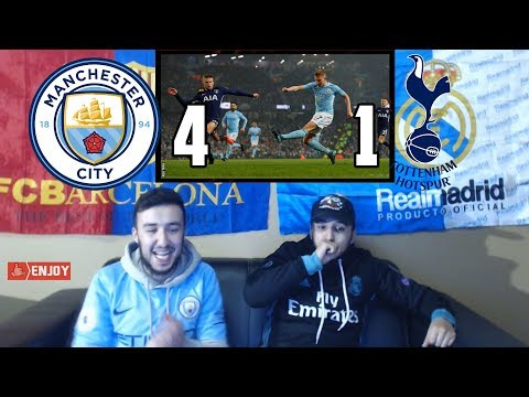 BARÇA & MADRID FANS REACT TO: MAN CITY 4-1 WIN OVER TOTTENHAM - REACTION