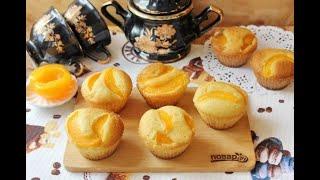 Кексы с консервированными персиками