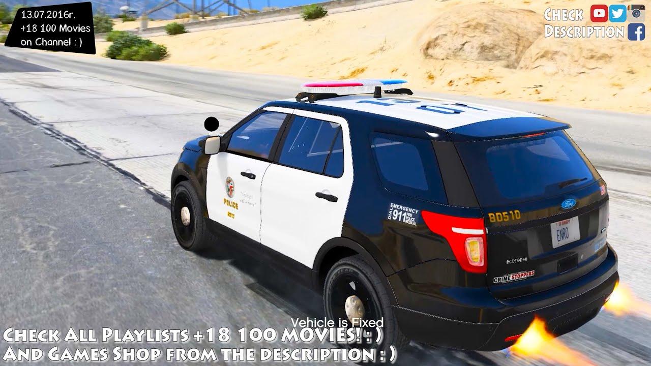 2014 Ford Explorer For Sale >> LAPD 2014 Ford Explorer Police Interceptor Utility - GTA V MOD   2.7K / 1440p ! - YouTube