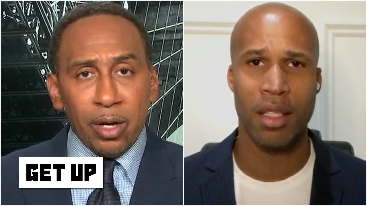 Stephen A. and Richard Jefferson stand with the players protesting by not playing | Get Up