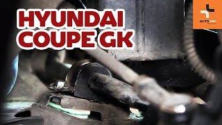 Peržiūrėkite vaizdo įrašo vadovą, kaip pakeisti HYUNDAI COUPE (GK) Stabdžių trinkelių komplektas
