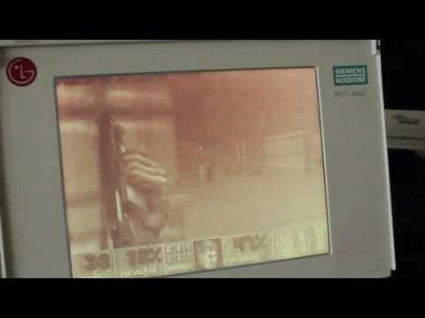 Doom on monochrome passive matrix display