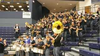 """CUNE's Might Bulldog Band plays the school's fight song """"On Wiscons..."""