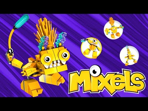 LEGO Mixels Yellow Electroids Build & Review & Electorids MAX