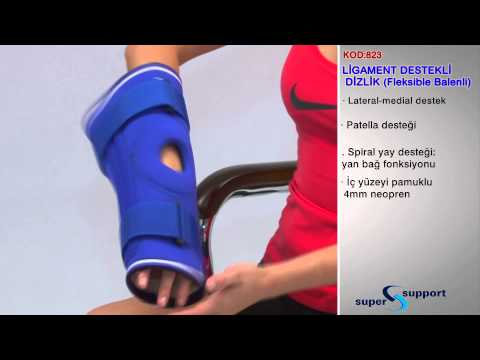 Ligament destekli dizlik (fleksible balenli) Kod 823