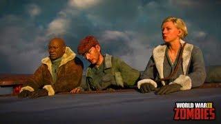 Call of Duty WW2 - The Shadowed Throne Intro Cutscene Gameplay - (COD WW2 DLC 2 Zombies)