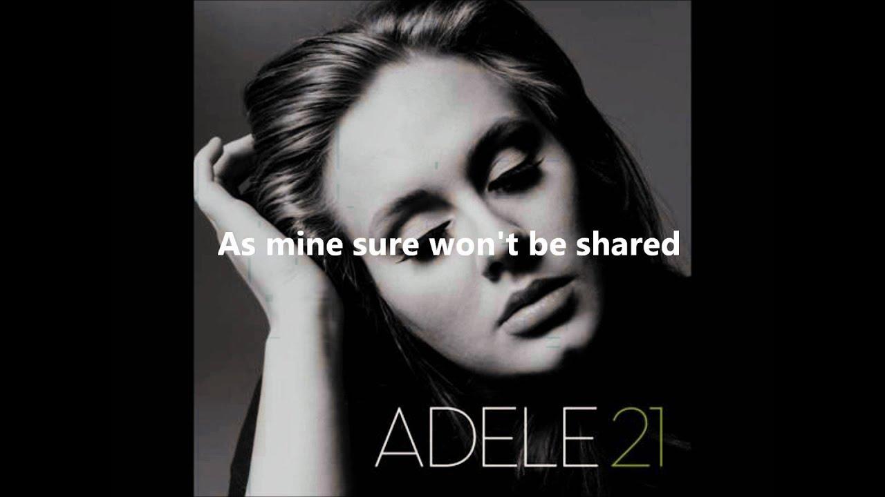 Adele Rolling in the Deep + Lyrics