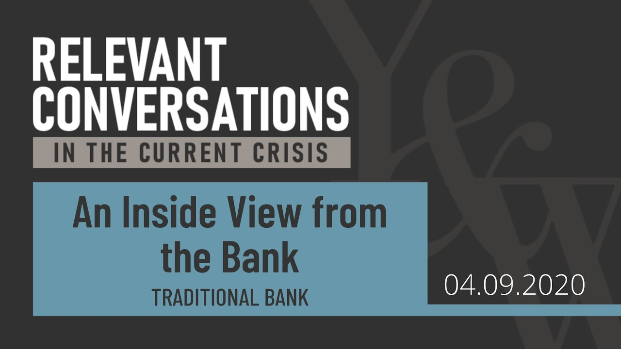 (WEBCAST): An Inside View from the Bank
