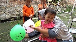 Download lagu Surprise Es Krim BABY SHARK & MONKEY BANANA Dalam Balon Karakter, Finger Family Song