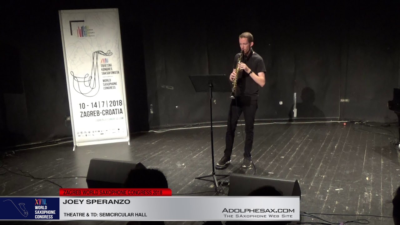 ?????   Joey Spezanzo  XVIII World Sax Congress 2018 #adolphesax
