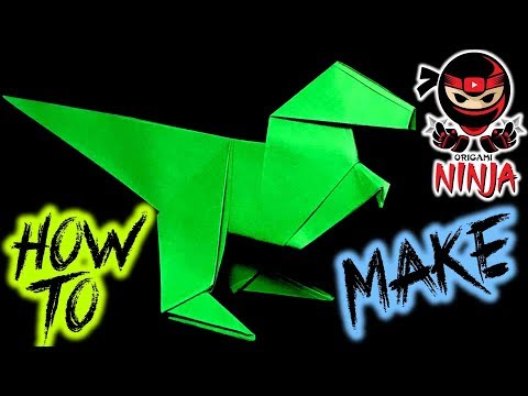 How to make: Origami Paper Raptor (w/ Verbal Instructions + Music)