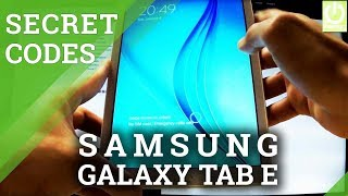 Secret Codes SAMSUNG T561 Galaxy Tab E - Hidden Features in Galaxy Tab