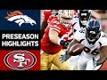 Broncos vs. 49ers | NFL Preseason Week 2 Game Highlights