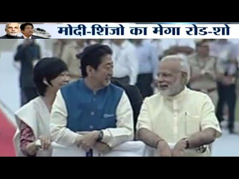 PM Modi, Japanese PM Shinzo Abe hold road show to Sabarmati Ashram in Ahmedabad