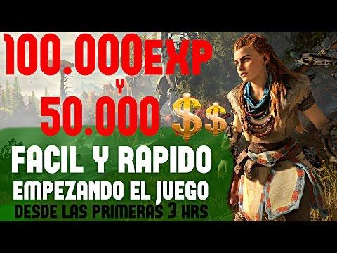Horizon Zero Dawn 100.000 Exp y 50.000 Dinero en UNA HORA DESDE EL INICIO DEL JUEGO