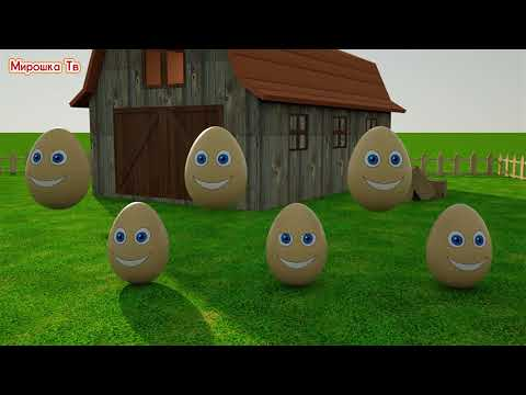 Учим цвета-Разноцветные яйца на ферме Miroshka Tv