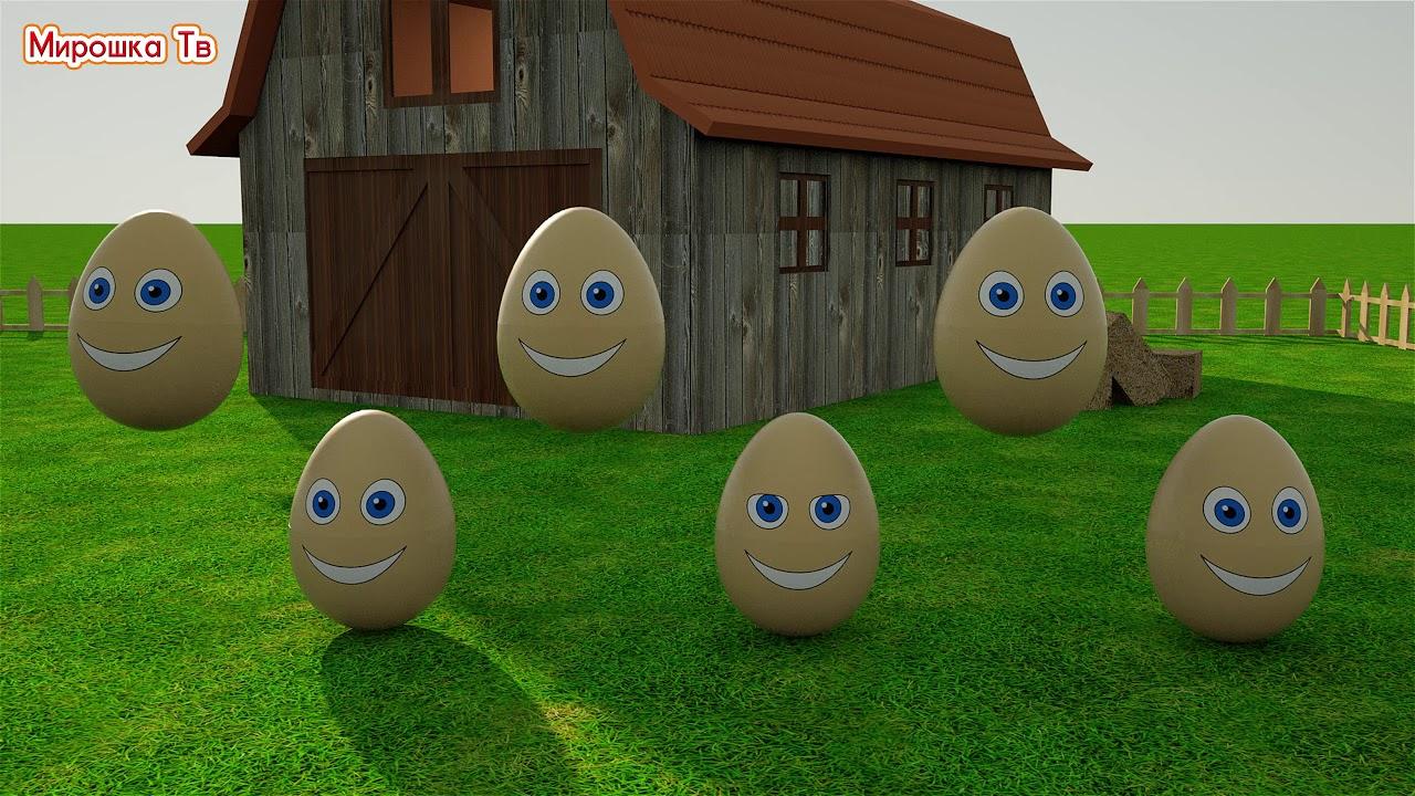 Учим цвета  Разноцветные яйца на ферме  Развивающий мультик для детей youtube video statistics on substuber.com