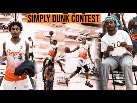 5'9 Ezra Manjon Wins Simply Basketball Dunk Contest vs SDSU Commit |  Special Judge Trevor Dunbar!