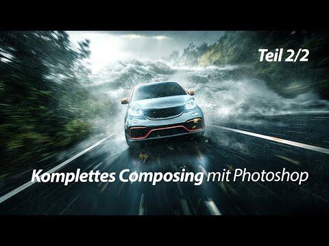 Photoshop Tutorial   Auto Und Welle   Komplettes Composing Teil 2/2